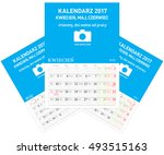 polish calendar a3 format with... | Shutterstock .eps vector #493515163
