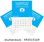 polish calendar a3 format with... | Shutterstock .eps vector #493515169