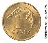 One Polish Grosz Coin Isolated...