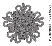 contemporary doily round lace...   Shutterstock .eps vector #493530994