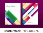 set of modern geometric... | Shutterstock .eps vector #493531876