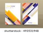 set of modern geometric... | Shutterstock .eps vector #493531948
