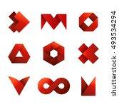 big set of modern icon design...   Shutterstock .eps vector #493534294