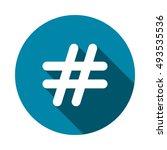 hashtags icon vector | Shutterstock .eps vector #493535536