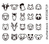 Stock vector animal icons 493538719