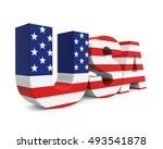 usa text in american flag... | Shutterstock . vector #493541878