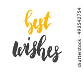 best wishes. holiday seasonal... | Shutterstock .eps vector #493542754