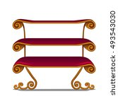 ornate shelving unit in vintage ... | Shutterstock .eps vector #493543030