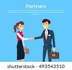 partners concept vector. flat... | Shutterstock .eps vector #493543510