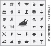 food icons universal set for... | Shutterstock . vector #493545184