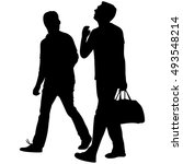 two friends traveling | Shutterstock .eps vector #493548214