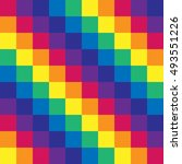 vector gay flag. gay pride flag.... | Shutterstock .eps vector #493551226