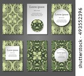 set of stylish business card... | Shutterstock .eps vector #493552396