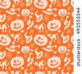 art seamless pattern for happy... | Shutterstock .eps vector #493553344