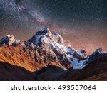 fantastic starry sky. autumn... | Shutterstock . vector #493557064