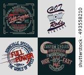 set of creative t shirt graphic ... | Shutterstock .eps vector #493558210