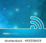 abstract creative concept... | Shutterstock .eps vector #493558429