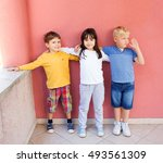 image of adorable children... | Shutterstock . vector #493561309