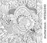 tracery seamless calming... | Shutterstock .eps vector #493563340
