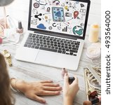 digital globalization internet... | Shutterstock . vector #493564000