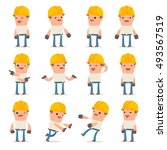 set of confused and sad... | Shutterstock .eps vector #493567519