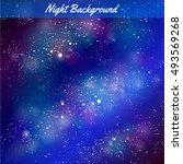 vector night background. stars.   Shutterstock .eps vector #493569268
