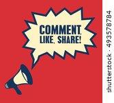 megaphone  business concept... | Shutterstock .eps vector #493578784