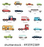 colorful flat collection of... | Shutterstock .eps vector #493592389