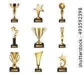 Beautiful Golden Trophy Cups...