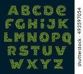alphabet logos formed by fresh... | Shutterstock .eps vector #493597054