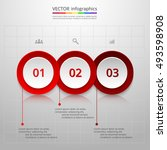 infographics step by step.... | Shutterstock .eps vector #493598908
