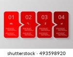 vector lines arrows infographic.... | Shutterstock .eps vector #493598920