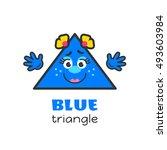 triangle geometric shape vector ...   Shutterstock .eps vector #493603984