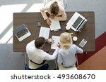 top view of professional... | Shutterstock . vector #493608670