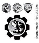 welder   Shutterstock .eps vector #493611628