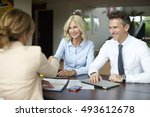 shot of an investment manager... | Shutterstock . vector #493612678