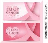 pink ribbon symbol for national ... | Shutterstock .eps vector #493612924