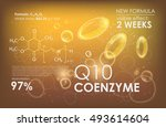 coenzyme q10. supreme collagen... | Shutterstock .eps vector #493614604