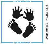 Hand Foot Icon Vector...