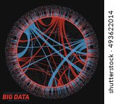 big data visualization.... | Shutterstock .eps vector #493622014
