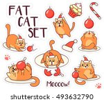 Fat Cat Sticker Set For...