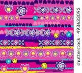 vector seamless geometric cute...   Shutterstock .eps vector #493633093