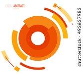 abstract modern geometric... | Shutterstock .eps vector #493637983