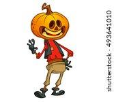Halloween Cartoon Scarecrow...