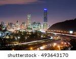 Skyline Of Santiago De Chile...