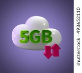 3d rendering cloud storage... | Shutterstock . vector #493652110