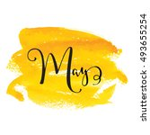 May Month Lettering Calligraph...