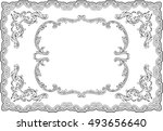 baroque ornate swirl page on... | Shutterstock .eps vector #493656640