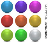 Color Balls Vector Set Isolate...