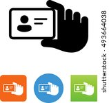 id card icon | Shutterstock .eps vector #493664038